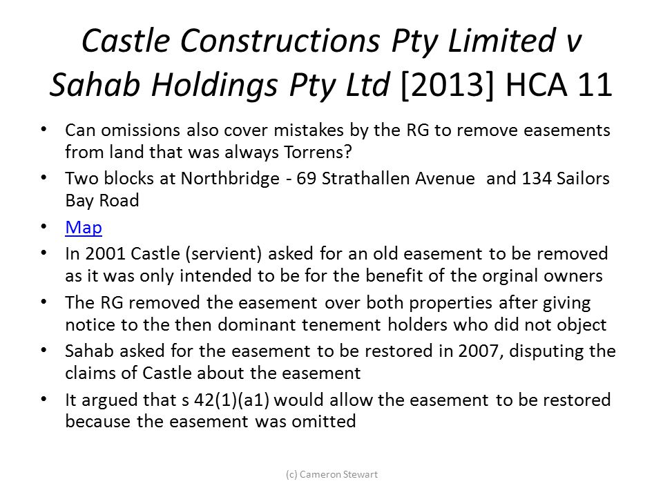 Castle Constructions Pty Limited v Sahab Holdings Pty Ltd [2013] HCA 11